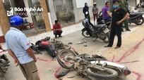 3 người phải nhập viện sau cú đâm của 2 xe máy