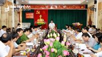 Chủ tịch UBND tỉnh: Nam Đàn phải nỗ lực, quyết tâm cao để đạt huyện nông thôn mới kiểu mẫu