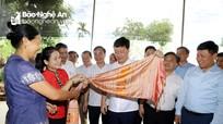 Chủ tịch UBND tỉnh Nguyễn Đức Trung thăm các mô hình kinh tế ở huyện Quỳ Châu