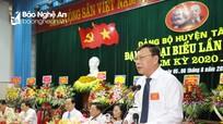 Bế mạc Đại hội Đại biểu Đảng bộ huyện Tân Kỳ lần thứ XXI, nhiệm kỳ 2020 - 2025
