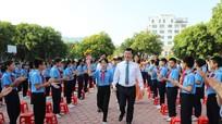 Chủ tịch UBND tỉnh Nguyễn Đức Trung dự Lễ Khai giảng tại Trường THCS Đặng Thai Mai