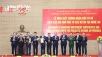 Thủ tướng Chính phủ dự lễ trao Giấy chứng nhận đầu tư các dự án tại Nghệ An