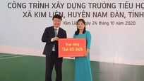 Chủ tịch UBND tỉnh Nguyễn Đức Trung dự Lễ khánh thành Trường Tiểu học Hoàng Trù