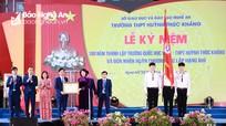 Trường THPT Huỳnh Thúc Kháng kỷ niệm 100 năm thành lập và đón nhận Huân chương Độc lập hạng Nhì