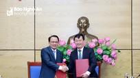 Ban Cán sự Đảng UBND tỉnh và Đảng ủy Khối các cơ quan tỉnh ký kết quy chế phối hợp