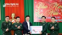 Chủ tịch UBND tỉnh Nguyễn Đức Trung thăm, chúc Tết cán bộ, chiến sỹ, người dân huyện Kỳ Sơn