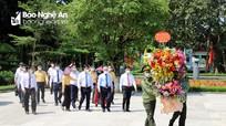 Chủ tịch Ủy ban Trung ương Mặt trận Tổ quốc Việt Nam dâng hoa tại Khu di tích Kim Liên