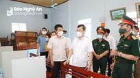Chủ tịch UBND tỉnh kiểm tra công tác chuẩn bị bầu cử tại Hoàng Mai