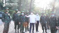 Chủ tịch UBND tỉnh kiểm tra tiến độ xây dựng Sở Chỉ huy diễn tập Khu vực phòng thủ