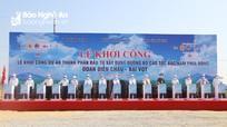 Khởi công dự án đường cao tốc đoạn Diễn Châu - Bãi Vọt