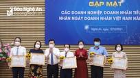Tỉnh Nghệ An gặp mặt các doanh nghiệp, doanh nhân tiêu biểu