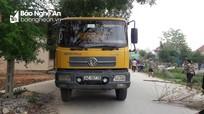 Cháu bé 3 tuổi bị xe tải cán tử vong ở Nghệ An