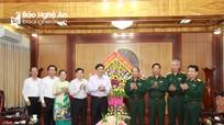 Lãnh đạo tỉnh Nghệ An chúc mừng Bộ Tư lệnh Quân khu 4 nhân ngày thành lập