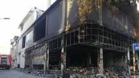 Hình ảnh hiện trường vụ cháy phòng trà khiến 6 người tử vong ở Nghệ An