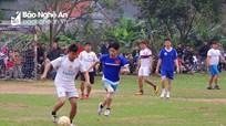 Đồn BP cảng Cửa Lò - Bến Thủy giao hữu bóng đá với giáo xứ La Nham