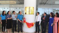 Gắn biển công trình chào mừng Đại hội Công đoàn tỉnh Nghệ An