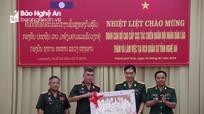 Tăng cường đối ngoại quốc phòng, xây dựng đường biên Việt Nam - Lào hòa bình, hữu nghị