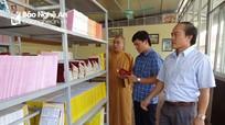 Ngôi chùa ở quê lúa Nghệ An ra mắt thư viện phục vụ người dân
