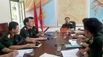 Cục trưởng Cục Tác chiến kiểm tra tại Đồn Biên phòng cửa khẩu quốc tế Nậm Cắn