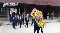 Đoàn công tác tỉnh Lâm Đồng dâng hương tại Khu di tích lịch sử Kim Liên và Truông Bồn