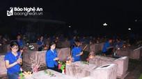 Tuổi trẻ thành Vinh thắp 1.000 ngọn nến tri ân các anh hùng liệt sỹ
