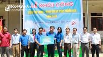 Khởi công xây dựng khu vui chơi cho thiếu nhi ở xã vùng biên Nghệ An