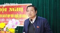 Trưởng Ban Nội chính Trung ương tiếp xúc cử tri các huyện miền núi Nghệ An