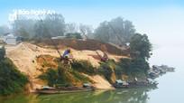Cần xử lý nghiêm tình trạng khai thác cát sỏi trái phép trên sông Lam