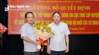 Nghệ An: Đảng ủy Khối Các cơ quan tỉnh tiếp nhận 21 tổ chức Đảng ngành thuế cấp huyện
