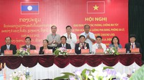 8 tỉnh Việt - Lào ký kết Biên bản phối hợp phòng, chống tội phạm ma túy