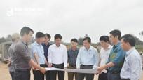 Lãnh đạo tỉnh kiểm tra tiến độ các dự án giao thông trọng điểm  