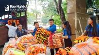 Tỉnh đoàn Nghệ An tiếp nhận và trao hàng hóa hỗ trợ cho người dân vùng lũ