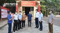 Phó Chủ tịch UBND tỉnh Hoàng Nghĩa Hiếu kiểm tra công tác bầu cử tại Nghĩa Đàn, Thái Hòa