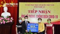 Nghệ An đã tiếp nhận gần 93 tỷ đồng ủng hộ phòng, chống dịch Covid- 19  