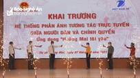 Khai trương hệ thống phản ánh tương tác trực tuyến giữa người dân và chính quyền thị xã Hoàng Mai