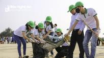 Hàng nghìn thanh niên huyện Nghi Xuân chung tay bảo vệ môi trường biển