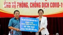 Ủng hộ 30 tấn gạo cho người dân nước bạn Lào bị ảnh hưởng do dịch Covid-19