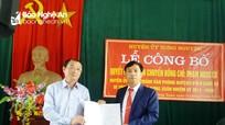 Hưng Nguyên: Luân chuyển 3 cán bộ cấp huyện về làm bí thư, chủ tịch xã