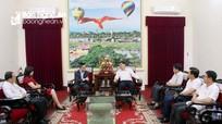 Bí thư Tỉnh ủy làm việc với đoàn công tác Thông tấn xã Việt Nam