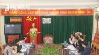 Đoàn công tác Ban Tổ chức Trung ương làm việc với huyện Tân Kỳ