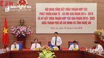 Đồng chí Nguyễn Đắc Vinh đề xuất nâng tầm hợp tác Nghệ An và TP. Hồ Chí Minh