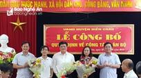 Diễn Châu công bố các quyết định về công tác cán bộ