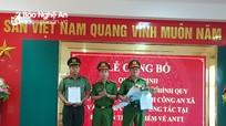 Diễn Châu, Yên Thành điều động sỹ quan công an đảm nhiệm chức danh công an xã