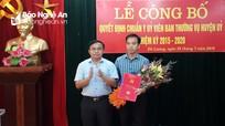 Đô Lương: Công bố quyết định bổ sung Ủy viên Ban Thường vụ Huyện ủy