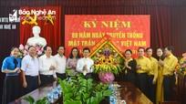 Thường trực Tỉnh ủy chúc mừng Ủy ban Mặt trận Tổ quốc tỉnh nhân ngày truyền thống