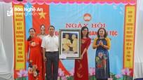 Trưởng ban Tuyên giáo Tỉnh ủy dự Ngày hội Đại đoàn kết tại Hưng Nguyên, TP Vinh