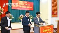 Lãnh đạo tỉnh Nghệ An ủng hộ chương trình Tết vì người nghèo 2020