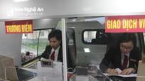 Agribank Chi nhánh Tây Nghệ An khai trương điểm giao dịch lưu động bằng ô tô chuyên dùng