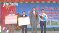Xã Thanh Hòa (Thanh Chương) đón Bằng công nhận đạt chuẩn Nông thôn mới