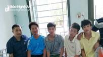 Tiếp nhận 4 thuyền viên Nghệ An được cứu sống trên biển